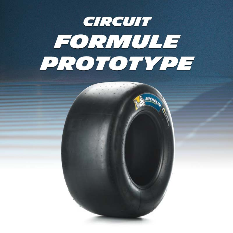 Circuit tyres for formula, open wheels and prototype