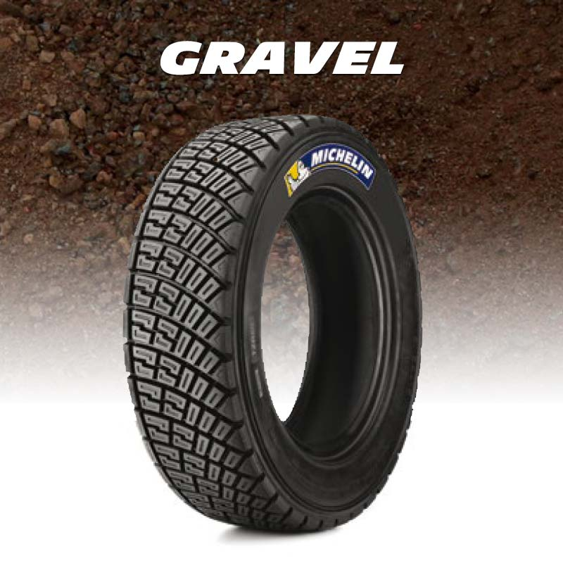 Gravel tyres for rally and autocross
