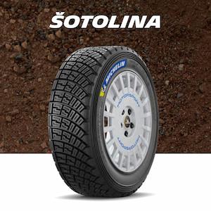 Šotolinové pneumatiky pro rallye a autokross